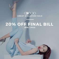 [G2000 Outlet] It's the Great Singapore Sale!