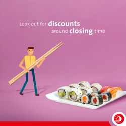[OCBC ATM] Not many supermarkets openly state they have an end-of-day discount, but if you hang around an hour or