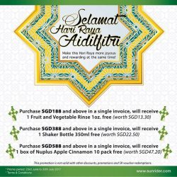 [Que Sera] To celebrate Hari Raya, we are pleased to let you know that we have another great promotion designed for you