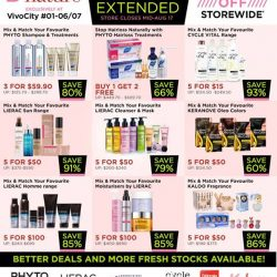 [Beauty By Nature] BEAUTY BY NATURE VIVOCITY MOVING OUT SALES EXTENDED!