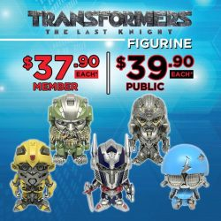[Golden Village] Fuel up with Transformers: The Last Knight combo meals before saving the world & bring home the mini Transformers figurines!