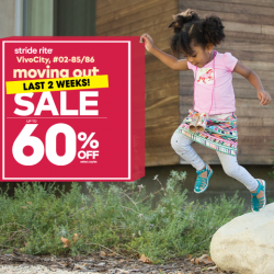 [Stride Rite/Petit Bateau] LAST 2 WEEKS of Stride Rite VivoCity Moving-Out SALE!