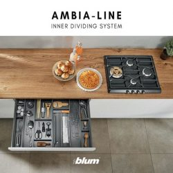 [Blum & Co] Organising solution for LEGRABOX: AMBIA-LINOur inner dividing systems are designed to maximise storage space and promote efficiency.