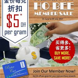 [Ho Bee Goldsmith & Jewellery] Ho Bee Member SALE!