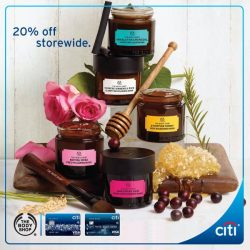 [Citibank ATM] Pamper yourself this Great Singapore Sale at the The Body Shop.