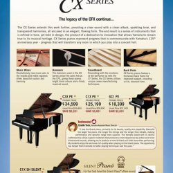 [YAMAHA MUSIC SQUARE] CX Series pianos feature a completely revamped design.