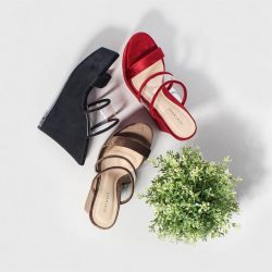 [Heatwave] Treat your Feet: The latest star of one of our most popular lines, the Mia Chunky Wedge features velvet soft