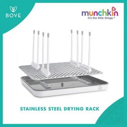 [Spring Maternity] Follow & tag 3 friends on our IG to win this high-performance, premium stainless steel drying rack from @Munchkin!