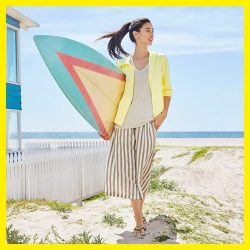 [Uniqlo Singapore] Not just loungewear - our STETECO and RELACO bottoms can be worn as part of a breezy beach outfit!