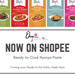 [O'NYA SAYANG] It's now even EASIER to recreate your favourite Peranakan dishes at home!