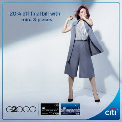 [Citibank ATM] Update your wardrobe at G2000 this GSS.