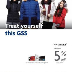 [ColdWear] If you're a UOB card member, remember to use your UOB card while paying to enjoy an additional 5%