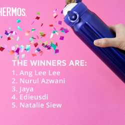 [Thermos] A huge congratulations to our 5 lucky winners who will each take home a Thermos® product of your choice!