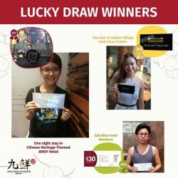 [Nine Fresh Desserts Taiwan] Here are our latest lucky draw winners!