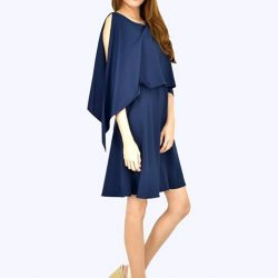 [MOONRIVER] Lydnia Overlay Fit and Flare Flowy DressUp to 50% for regular items and up to 70% off for sale