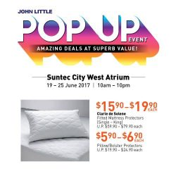 [John Little] John Little Pop Up Event is back at the Suntec City West Atrium.