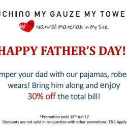 [Uchino] Don't miss out our Father's Day promotion exclusively at Uchino MYMY boutiwue ending this Sunday!