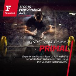 [Fitness First] PRIMAL: Experience the next level of Freestyle Group Training with this periodised and skill related class using primal movement patterns.