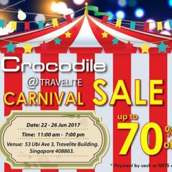 [Crocodile] Hari Raya Holiday Special - Carnival Sale Shop with us at the Carnival Sale @Travelite, with great BIG discounts that not