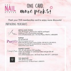 [The Nail Status] A great news for all our TNS members!