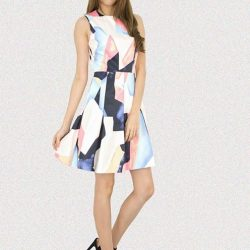 [MOONRIVER] Jone Printed Pattern Fit and Flare Dress - Get Inspired, Dress with stlyeUp to 50% for regular items and up