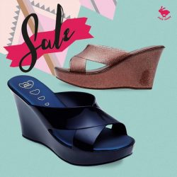 [Jelly Bunny] JELLY BUNNY END OF SEASON SALE• SHOES : KYLO / NAVY SILK,  BRONZE G:ITTER / 21.