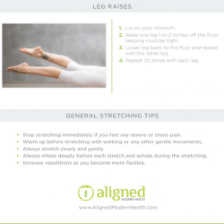[Ergoworks] Aligned Modern Health recently released this comprehensive guide on exercises to relieve back pain.