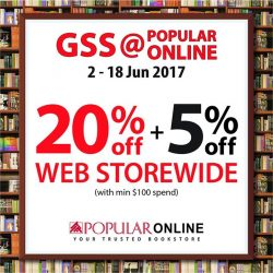 [POPULAR Bookstore] Enjoy greater savings when you shop at the GSS@POPULAR ONLINE!