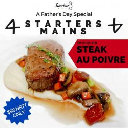 [Saveur Art] Top up $5 to change any of the 4 Mains in our Father's Day Special to Steak Au Poivre!