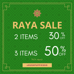 [Hush Puppies Outlet / Antton & Co. Outlet] Hush Puppies - Raya Sale now on!