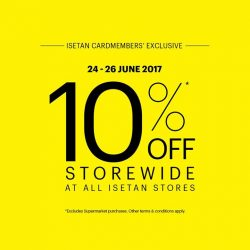 [Isetan] It's time to celebrate the long weekends!