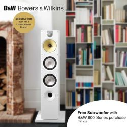 [B&W Bowers & Wilkins] Complete your Home Theater System with a complimentary Subwoofer ASW608!