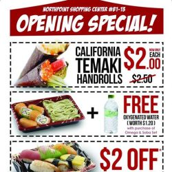 [SUSHI DELI] GRAND OPENING SPECIAL!