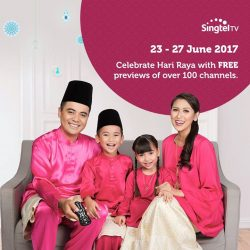 [Singtel] Sit back and relax with the best entertainment this Hari Raya weekend on Singtel TV!