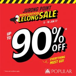 [POPULAR Bookstore] LELONG LELONG~ Get up to 90% discount at the Renovation Lelong Sale at POPULAR Jurong Point!