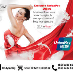 [Body Inc. Integrated Medicine] IT'S GSS: Exclusive Union Pay Offer  :) Get Additional One week detox therapy for every purchase of Body Inc signature