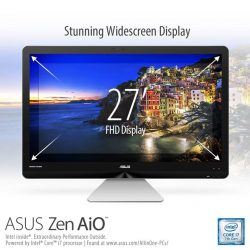 [ASUS] The space-saving ASUS Zen AiO ZN270 comes with a thin-bezel design that maximizes the viewing area which heightens