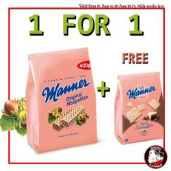 [Choco Express] MID-YEAR SPECIALBUY Manner bag (400g/300g of any flavour) + GET 1 FREE Manner bag (200g, any flavour)Giveaway