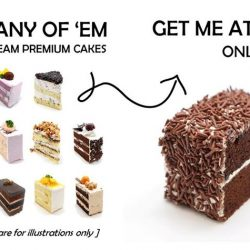[The Pine Garden] LAST DAYS FOR GSS: Great Stuff to Share ~ $1 Chocolate Rice Buttercream Cake at AMK Hub, Compass One, and Northpoint