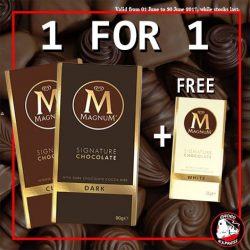 [Choco Express] MID-YEAR SPECIALBUY 1 Magnum block bar 90g (any flavour) + GET 1 FREE Magnum bar 45gGiveaway is while
