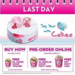 [Baskin Robbins] Don't miss this chance to say your love with cakes!