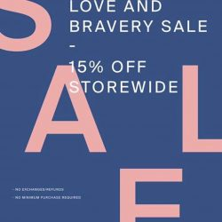 [LOVE AND BRAVERY] Exclusive GSS sales at our retail stores start today!