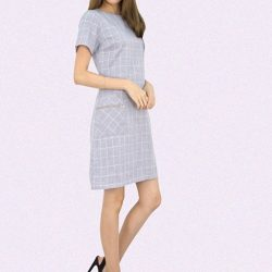 [MOONRIVER] Denise Checked Print Shift Dress - Get inspired, look wellUp to 50% for regular items and up to 70% off