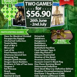 [GAME XTREME] PS4 Games Hari Raya Promotion【PROMO DURATION】 26/6/17 - 2/7/17【DETAILS】 How does PS4 games under $60