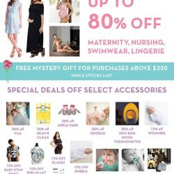 [Maternity Exchange] GREAT SINGAPORE SALE ✨✨✨ 9 JUNE TO 9 JULY❤ UP TO 80% OFF MATERNITY, NURSING, SWIMWEAR, LINGERIE🎁 FREE MYSTERY GIFT FOR