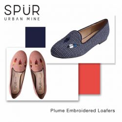 [SPUR] Featured sale of the day: Embroidered wings slip-ons in brick orange and navy.