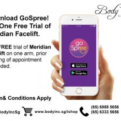 [Body Inc. Integrated Medicine] Welcome Gift: Download GoSpree App & Get one Free Trial of Meridian Facelift.