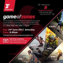[Fitness First] GAME OF ZONES: Calling all members - We know you have been training diligently at our clubs, and now it is