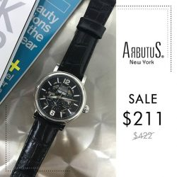 [Arbutus] Arbutus offers exquisite timepieces amalgamate precision mechanical movements such as automatic movements, chronographs and moon phases.