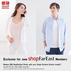 [Uniqlo Singapore] Exclusive for Uniqlo Orchard Central shoppers and new ShopFarEast members, find out how you can earn 500 @ShopFarEast points ($5